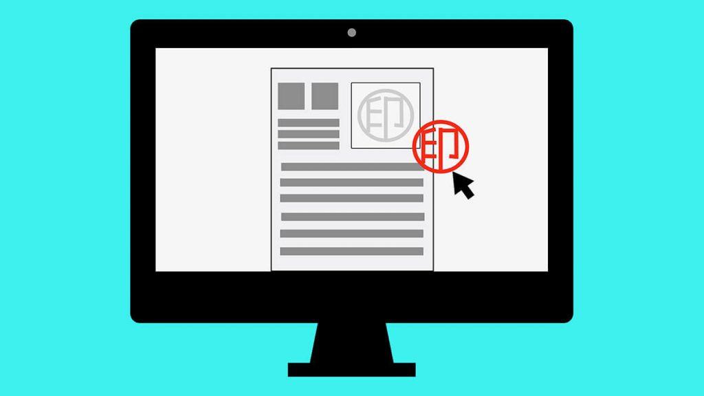 見積書・請求書・契約書に電子印鑑を捺印する